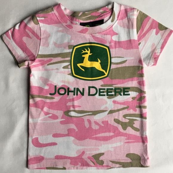 John Deere Other - John Deere shirt size 24 months pink camouflage